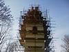 přípravné práce na věži