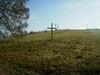 Kříž na místě zbouraného kostela Sv. Josefa v Nakléřově